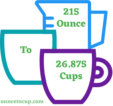 215 Oz to Cups - ouncetocup.com